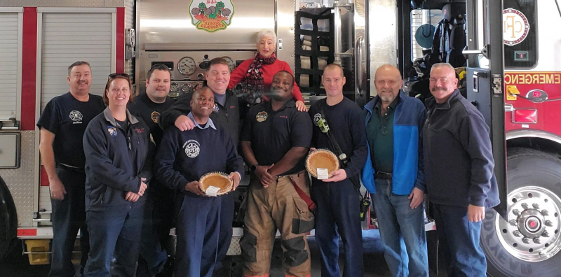 Thanksgiving pies for Catonsville Fire Station