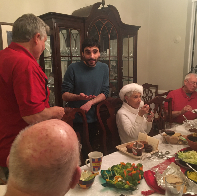 Christmas Season Dinner with Italian scholar Dr. Jacopo Agrimi