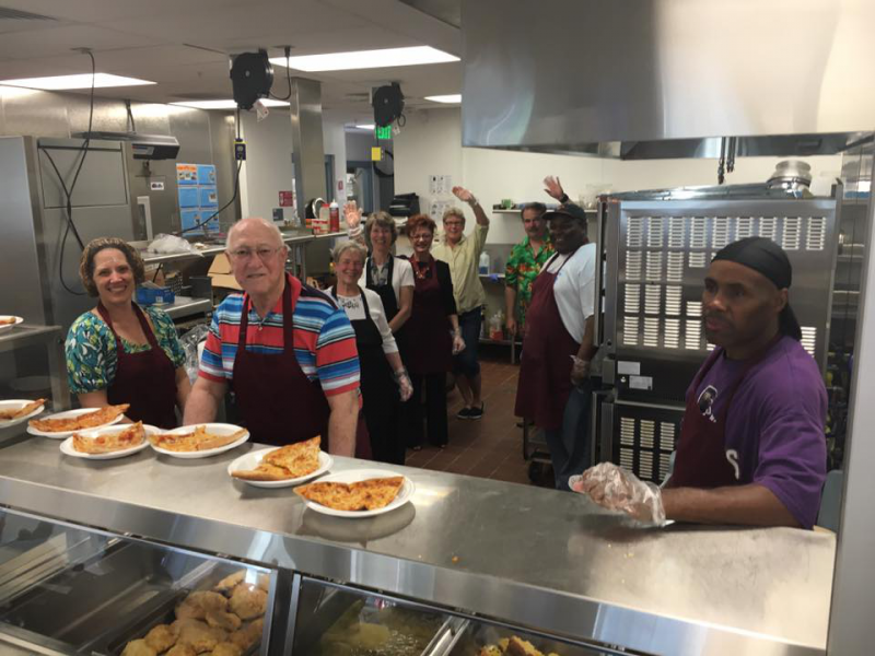 Pizza Service Project at Westside Men's Emergency Shelter
