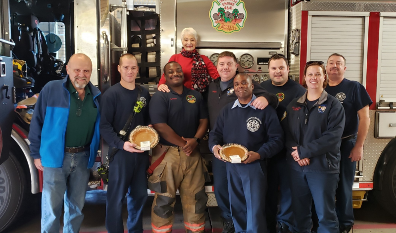 Thanksgiving Pumpkin Pie Delivery - Catonsville Fire Fighters - November 2019