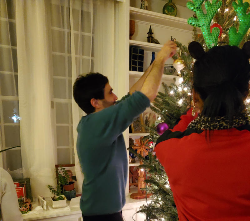 Christmas Tree Trimming with Global Scholar Dr. Jacopo Agrimi - December 2019
